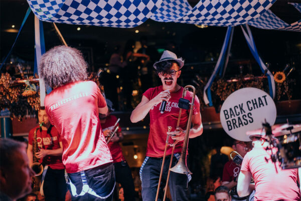 Back Chat Brass perfom live in Brewhemia during Oktoberfest