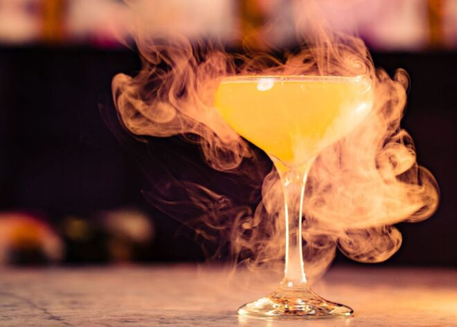 Cocktail drink at Brewhemia Edinburgh